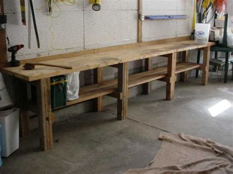classic garage workbench   solid wood material