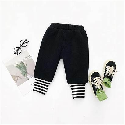 Winter Trouses Bottoms Striped Pants Casual Children