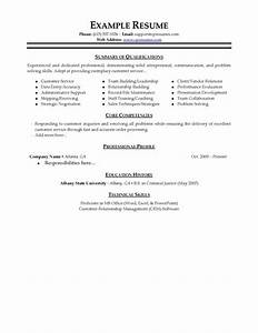 examples of resumes for customer service examples of resumes With customer service resume template word