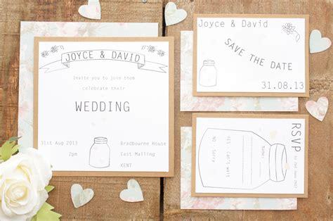 lovely vintage wedding invitation set  youre