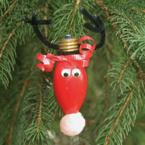 reindeer light bulb christmas ornament homemade