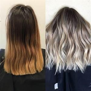Ombré Hair Chatain : ombr hair blond polaire sur chatain ~ Dallasstarsshop.com Idées de Décoration