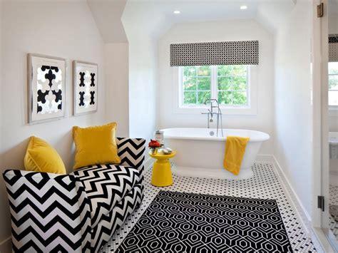 black white and yellow bathroom photos hgtv 22787