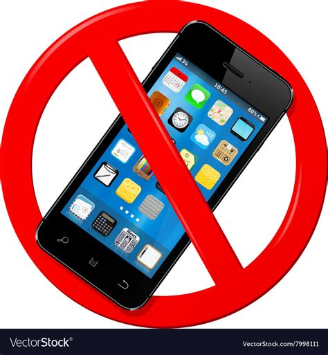 Do Not Use Mobile Phone Sign Royalty Free Vector Image