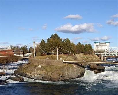 Spokane Washington Riverfront Monroe Falls Park