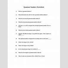 Quantum Number Worksheet With Answers  Quantum Numbers Worksheet 1 What Are Quantum Numbers 2