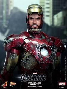 Hot Toys Battle Damaged Iron Man Mark VII Limited Figure ...