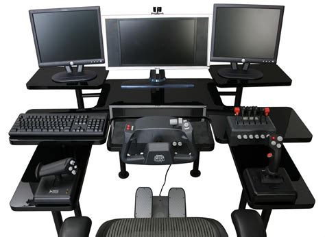 pc bureau alienware best custom gaming desk setup with monitors in