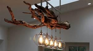 Luminaire En Bois Flotté : lampe bois flotte lampadaire suspension accueil design et mobilier ~ Teatrodelosmanantiales.com Idées de Décoration
