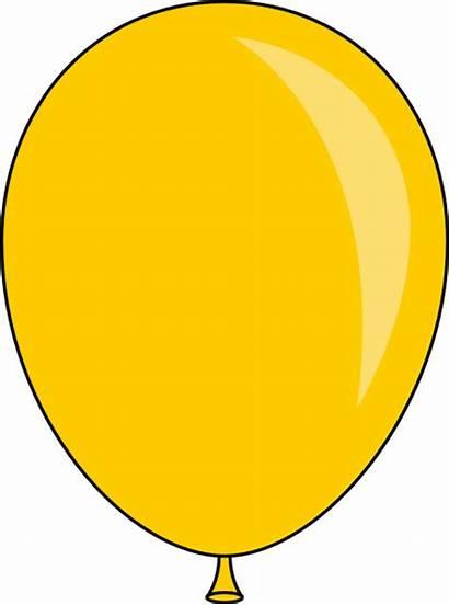 Balloon Yellow Clipart Clip Clker Cartoon Lft