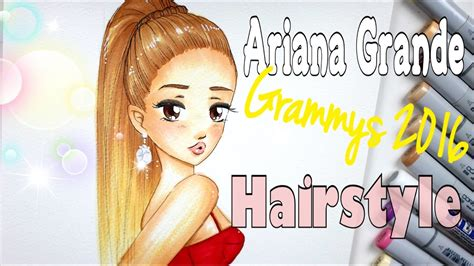 draw  color ariana grande grammys  youtube