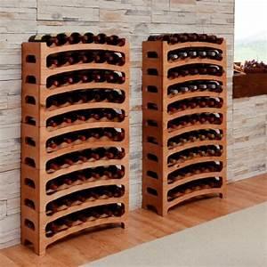Cantinetta / scaffale per vino / sistema BOUQUET, legno massiccio, ampilabile / impilabile a