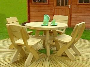 Table Et Chaise De Jardin En Bois : table de jardin en bois le choix respectueux ~ Teatrodelosmanantiales.com Idées de Décoration