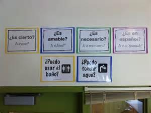 English-Spanish Classroom Signs