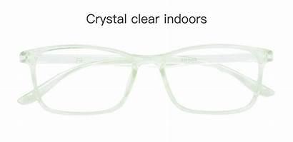 Rectangle Luna Frame Bifocal Glasses Crystal