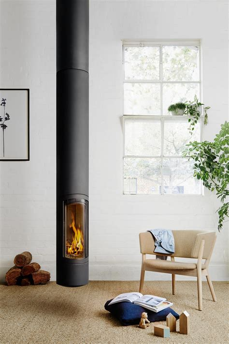 bedroom alcor slow combustion wood stove oblica designer