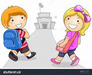 Children Going To School Clipart - ClipartXtras