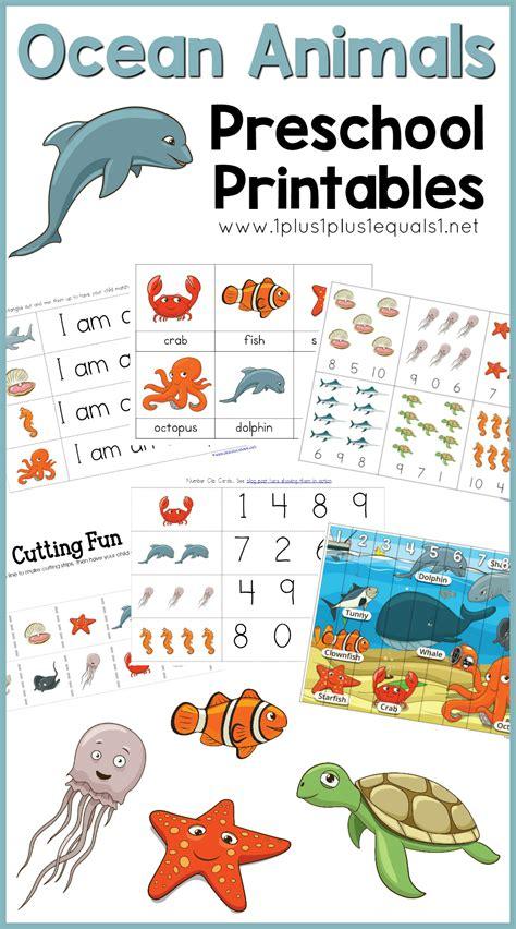 animals printables 765 | Ocean Animals Preschool Printables