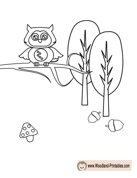printable woodland animals coloring pages