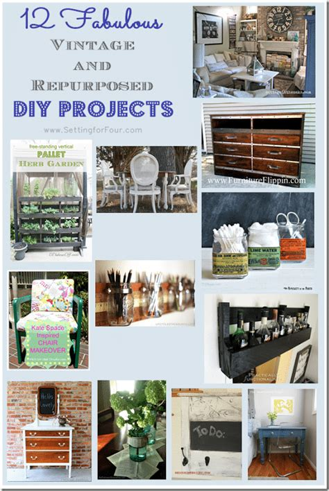 fabulous vintage  repurposed diy projects