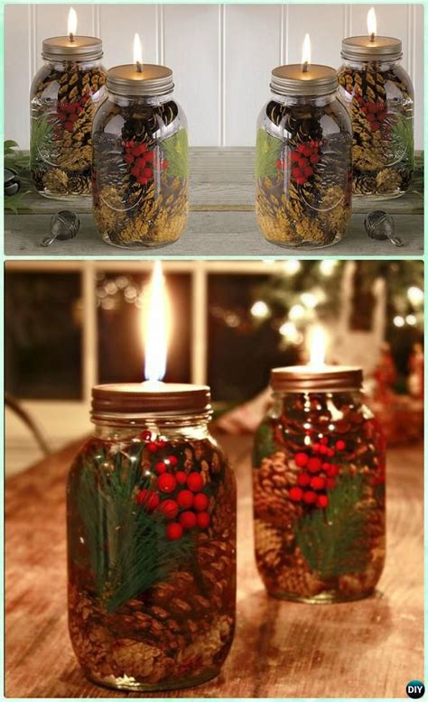 amazing festive diy ideas  mason jar lighting
