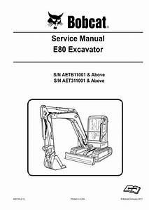 Bobcat E80 Compact Excavator Service Manual