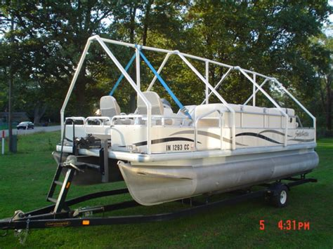 Boat Shrink Wrap Supports by Project Quot Pontoon Coccoon Quot Wrap For Winter With Pics
