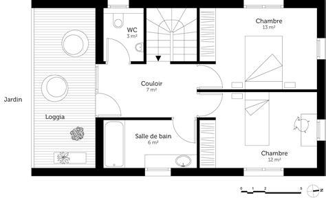 plan de maison à étage 4 chambres plan maison 4 chambres etage 2 plan au sol du 1er