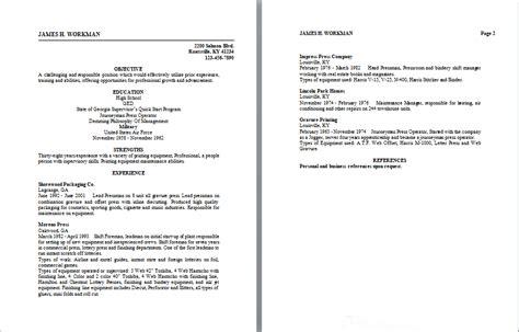 pressman supervisor resume sle resume writing service