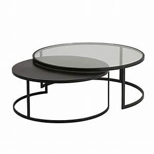 Table Basse Gigogne : table basse verre m tal ~ Zukunftsfamilie.com Idées de Décoration