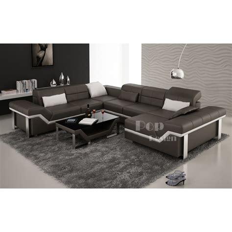 canapé en u design canapé d 39 angle cuir panoramique design torino xl pop