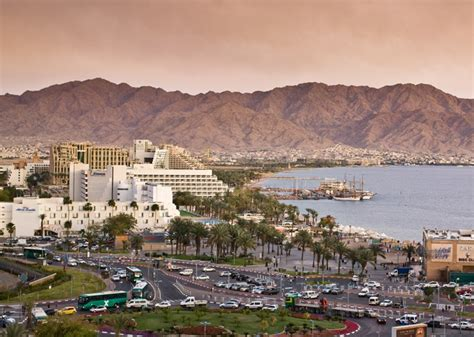 Eilat, With The Mountains Of Jordan In The Background