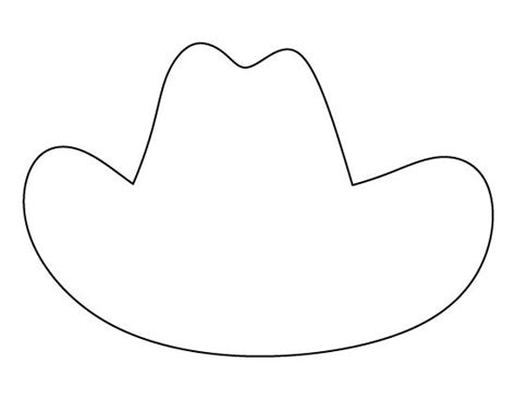 cowboy hat template cowboy boot pattern use the printable outline for crafts west cowboy