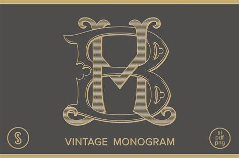 bh monogram hb monogram logo templates creative market