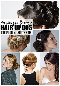 60, easy, updo hairstyles for Medium