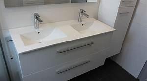 Meuble Double Vasque Suspendu : meuble salle de bain design atlantic bain ~ Melissatoandfro.com Idées de Décoration