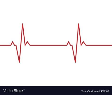 Heartbeat line background Royalty Free Vector Image