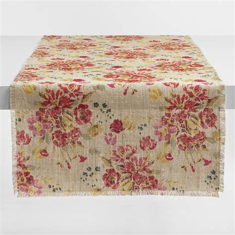 world market table linens floral fringed millie table runner world market