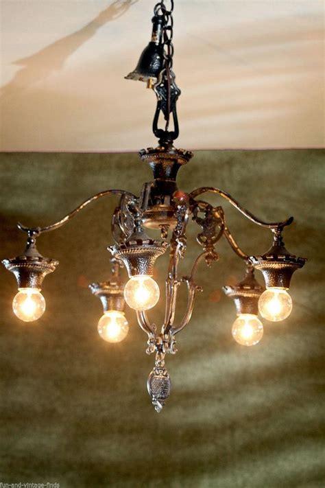 vintage antique lighting black cast iron kitchen dining room chandelier gothic victorian shabby