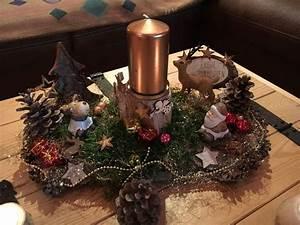 Was Kann Man Mit Fotos Basteln : adventskranz adventsgesteck auf baumrinde im landhausstil ein designerst ck von ~ Orissabook.com Haus und Dekorationen
