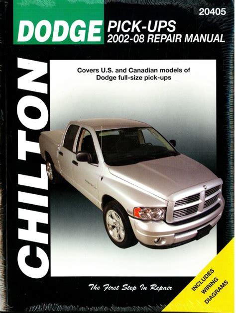 free online auto service manuals 1992 dodge daytona engine control 2002 2008 dodge pick up truck chilton repair manual