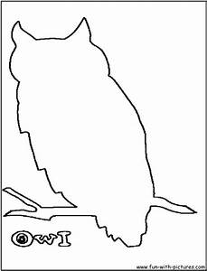 Outline Of An Owl - AZ Coloring Pages
