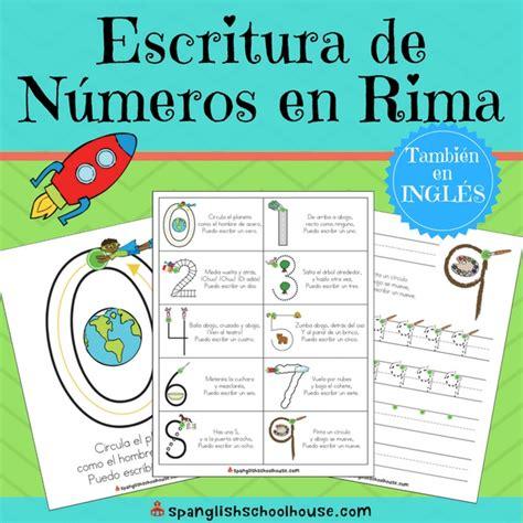letter formation rhymes escritura de numeros en rima number writing 48868