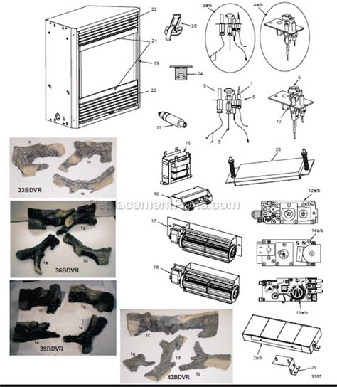 gas fireplace parts majestic 43bdvr parts list and diagram ereplacementparts