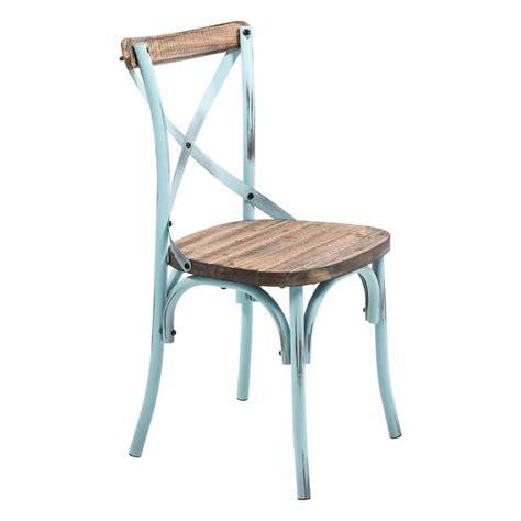 chaise bistrot metal chaise bistrot vintage en bois et métal patiné madie 4