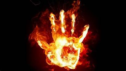 Fire Hand 3d Colorful