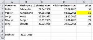 Excel Alter Berechnen Aus Geburtsdatum : geburtstagsliste in excel it service ruhr ~ Themetempest.com Abrechnung