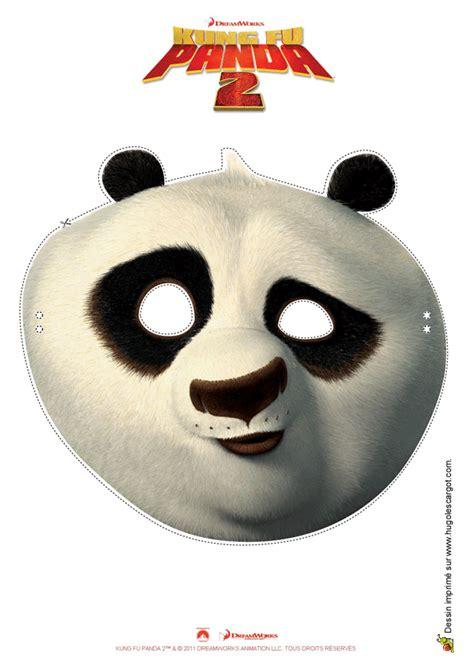 cuisine kawaii activité de découpage de masque de kung fu panda