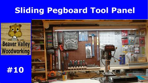 sliding pegboard tool panel  youtube