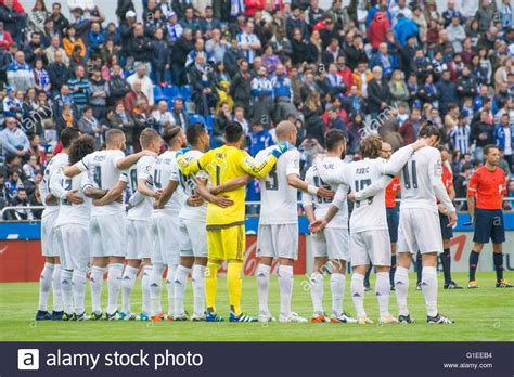 la coru 241 a spain 14th may 2016 real madrid s players during the stock royalty free